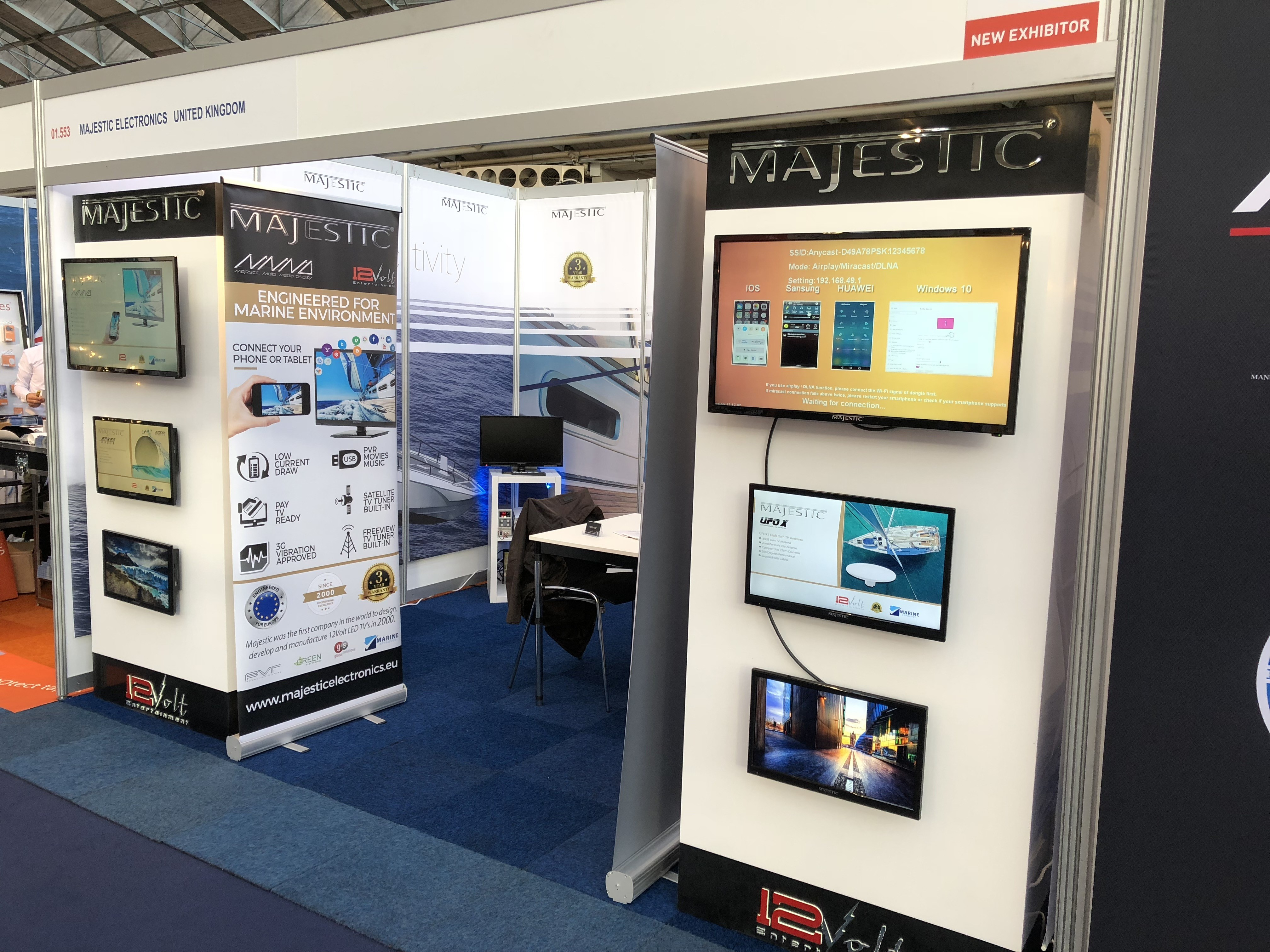 12 Volt Marine TVs were on display at METS with more distributors signing up with Majestic Electronics.
